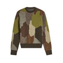Stella McCartney Wollpullover mit Camouflage-Muster