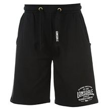 Lonsdale Mens Box Lightweight Shorts Pants Bottoms Boxing Sports Clothing Black xxl