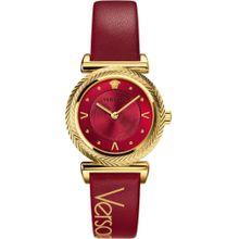 VERSACE Schweizer Uhr 'V-MOTIF, VERE00418' gold / rot
