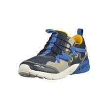 GEOX Sneaker blau / royalblau / gelb / greige