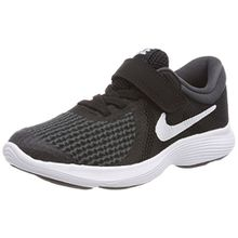 Nike Unisex-Kinder Kleinkinder Sneaker Revolution 4 Laufschuhe, Schwarz (Black/White Anthracite 006), 34 EU