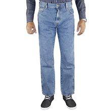 Mens Wrangler Regular Fit Denim Jeans Stone wash 34 waist 32 Leg