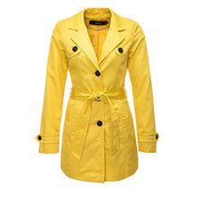 Vero Moda Damen Trenchcoat Kurzmantel Übergangsmantel (38 (Herstellergröße: M), Cream Gold)