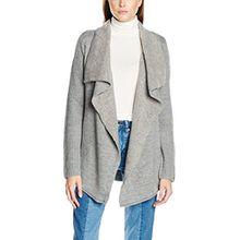 Hilfiger Denim Damen Strickjacke DW0DW00298, Grau (Lt Grey Htr Sweater 009), 40 (Herstellergröße: M-L)