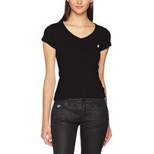 G-STAR RAW Damen T-Shirt Eyben Slim V T Wmn S/S, Schwarz (Black 990), 40 (Herstellergröße:L)