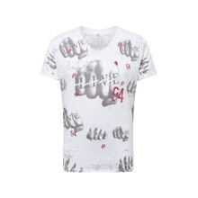 Key Largo Shirt 'MT FIGHT' grau / rot / weiß