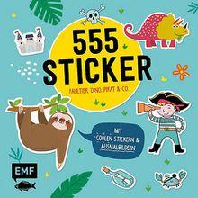 Buch - 555 Sticker - Faultier, Dino, Pirat und Co.