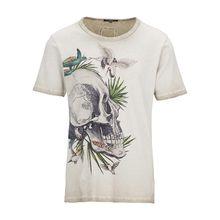 tigha Herren Shirts Skull in Paradise MSN beige (vintage light sand)