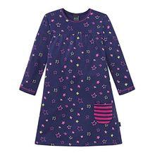Schiesser Mädchen Nachthemd 1/1, Blau (Dunkelblau 803), 98