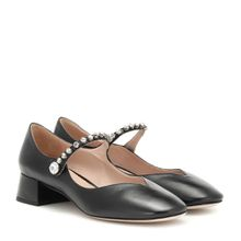 Mary-Jane-Pumps aus Leder