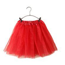 GGTFA Erwachsenen Ballett Kleid Tüll Tutu Petticoat Dance Rock Rot