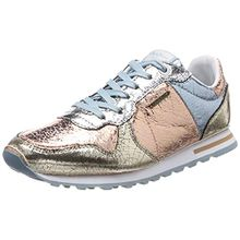 Pepe Jeans London Damen Verona W Cracked Sneaker, Mehrfarbig (Parchment), 38 EU