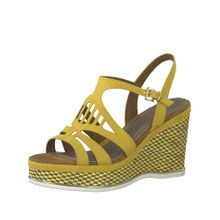 MARCO TOZZI Sandale 'Wedge' gelb / orange