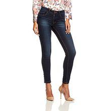 ONLY Damen Skinny Jeans 15077791/SKINNY SOFT ULTIMATE 201, Blau (Dark Blue Denim), Gr. L/L30 (L)