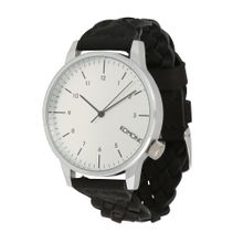 Komono Armbanduhr 'Winston' schwarz / silber
