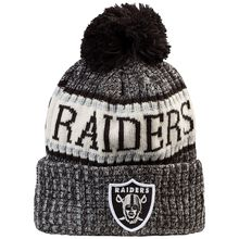 New Era NFL Oakland Raiders Sideline Bobble Knit Beanie schwarz Herren