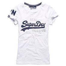 Superdry Vintage Logo Duo T-Shirt für Damen (L, Optic)