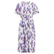 Plissee-Kleid mit Blumenprint