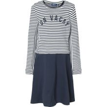 TOM TAILOR Set Kleid + Pullover navy / weiß