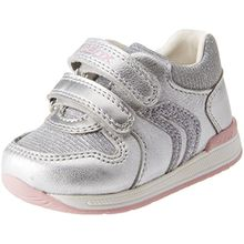 Geox Baby Mädchen B Rishon Girl B Sneaker, Silber (Silver), 18 EU