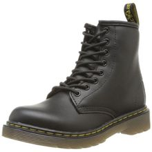 Dr. Martens DELANEY Softy T BLACK, Unisex-Kinder Bootsschuhe, Schwarz (Black), 33 EU (1 Kinder UK)