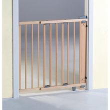 Türschutzgitter schwenkbar, Buche massiv, natur lackiert, 65 - 105 cm holzfarben
