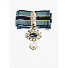 Ribbon Brooch - Blue