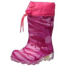 Beck Mädchen Camouflage Schlupfstiefel, Pink (Pink), 31 EU