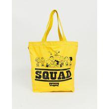 Levi's X Peanuts Squad - Einkaufstasche - Gelb