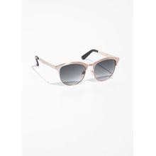 Brushed Metal Sunglasses - Brown