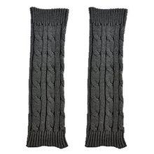 Bluelans® Strickwolle Armstulpen Pulswärmer Handschuhe fingerlos Stulpen Damenhandschuhe Winterhandschuhe (Dunkelgrau)