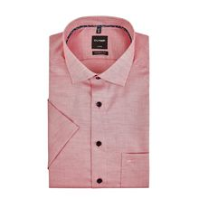Regular Fit Business-Hemd aus Baumwolle mit kurzem Arm