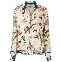 Dolce & Gabbana Bomberjacke mit Lilien-Print - Rosa