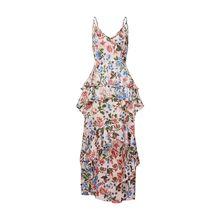 Missguided Sommerkleid Floral Ruffled Midi Dress Sommerkleider pink Damen
