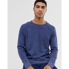 Polo Ralph Lauren - Leichtes Sweatshirt mit Rundhalsausschnitt und Polospieler-Logo in verwaschenem Marine - Navy