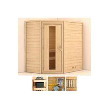KONIFERA Sauna »Walram«, 196x144x198 cm, ohne Ofen, Energiespartür