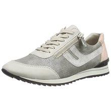 Rieker 56811, Damen Sneakers, Grau (ice/shark/white-silver/rose/81), 37 EU (4 Damen UK)