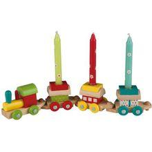 Happy People Holz-Geburtstagszug 3 Kerzen bunt  Kinder