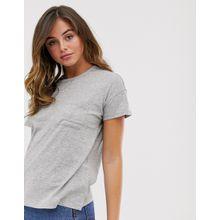 Abercrombie & Fitch - T-Shirt mit tief angesetzten Schultern - Grau
