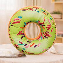 Donut Kissen Fall, wanshop® Soft Plüsch Kissen gefüllt Sitz Pad Sweet Donut Foods Sofa Kissenbezug Fall Toys 40cm x 40cm x 12cm W