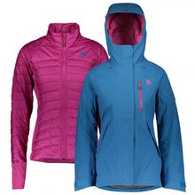 Scott - Women's Jacket Vertic 3in1 - Skijacke Gr XS rosa/rot
