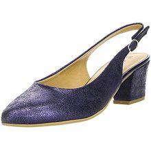 Tamaris Sling Pumps 1-29612-20 Leder Metallic, Schuhgröße:40;Farbe:Blau