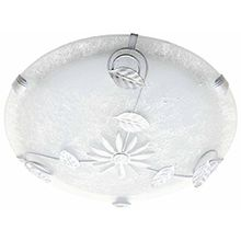 Brilliant 90168/05 Provence Deckenleuchte, Durchmesser 30 cm, E27, 60 W, LED geeignet, Metall / Glas, weiß