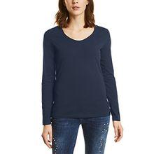 Street One Damen Langarmshirt 311565 UTA, Blau (Night Blue 10109), 36