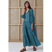 CLOSED Bohemian Dress indigo blue