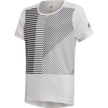 ADIDAS PERFORMANCE Trainingsshirt 'Tr Bld' grau / schwarz / weiß