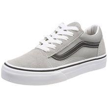 Vans Unisex-Kinder Old Skool Sneaker, Grau (Drizzle/Black Q7l), 27 EU