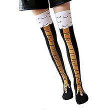 KIIMOO Lange Overknee Strümpfe Damen Knie Struempfe Thigh High College Knie Socken (Lange, schwarz)