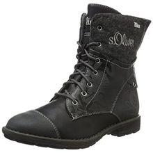 s.Oliver Mädchen 55208 Combat Boots, Schwarz (Black Comb 98), 38 EU