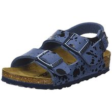 BIRKENSTOCK Jungen Milano Slingback Sandalen, Blau (Color Sprays Blue Color Sprays Blue), 28 EU